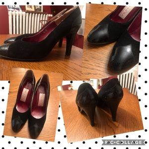 Vintage Oscar de la renta -made in Spain ,heels